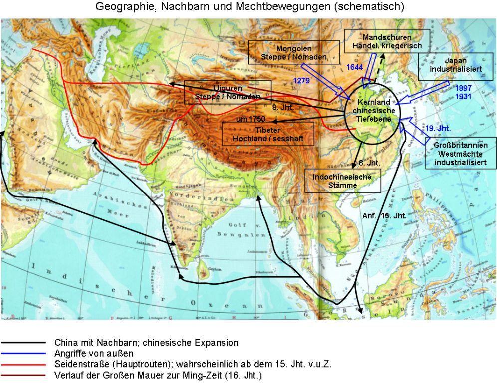 Chinesische Mauer Karte.Globale Allmende Geschichte 1