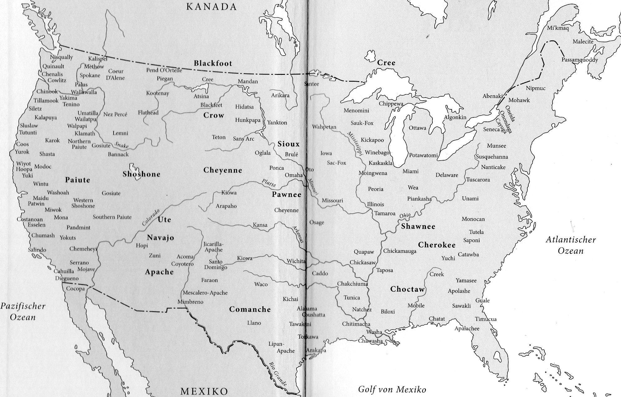 Usa Karte Ohne Staaten.Globale Allmende Indianer Der Usa